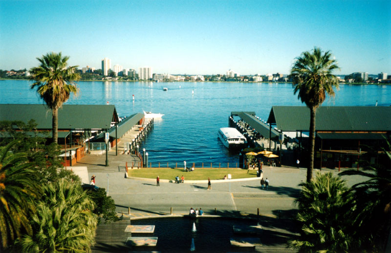 Swan River from Belltower, Perth