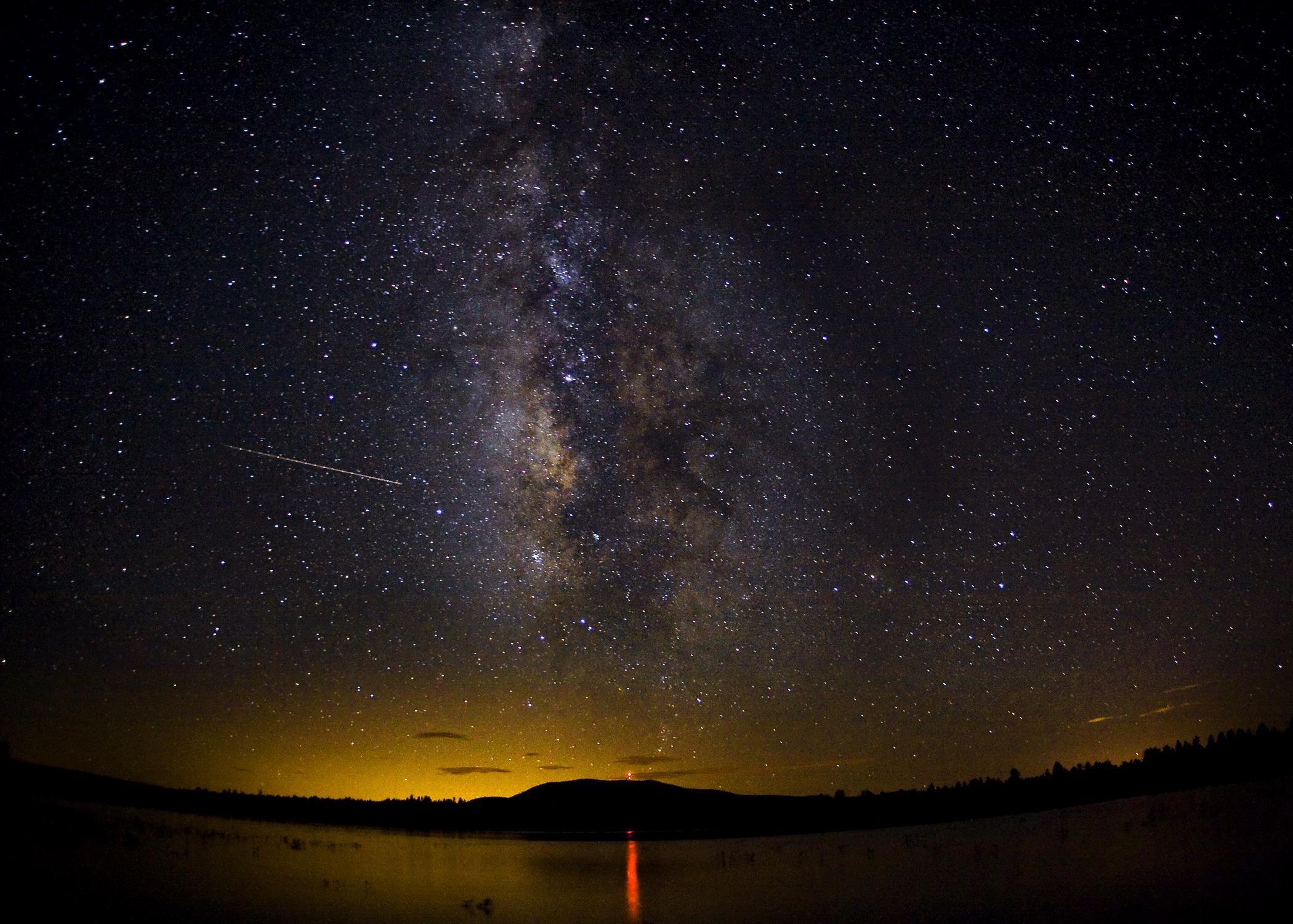 Perseids meteor shower by Logan Brumm of USA