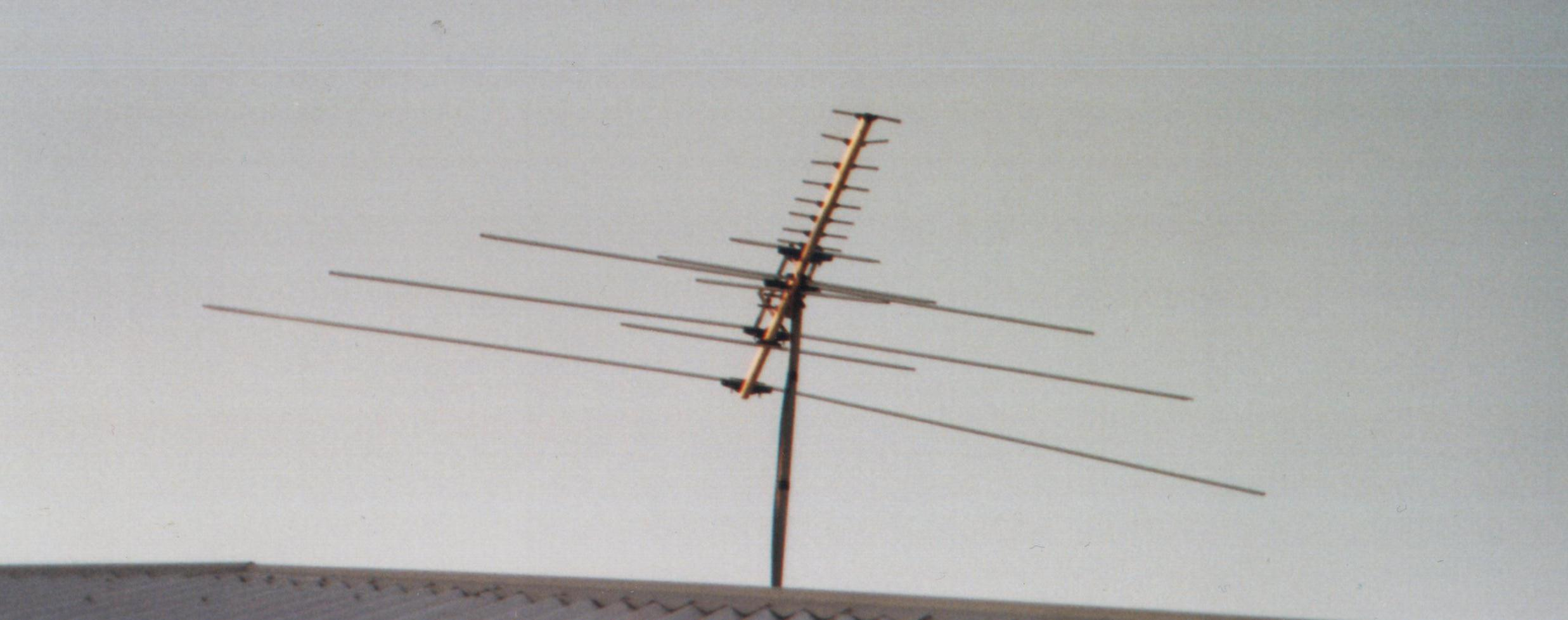 Closeup of NAS 16 Element Combination Antenna for Bands 1-4